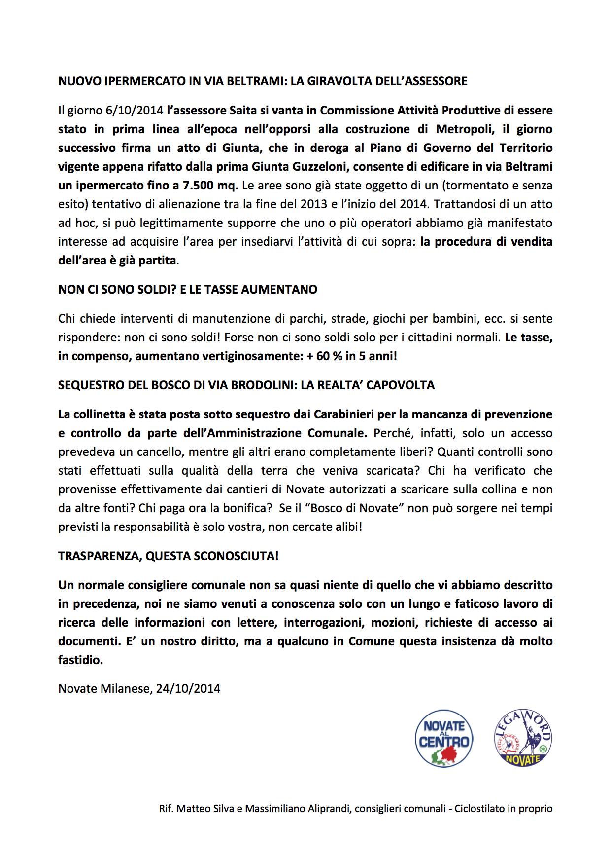 Centro Poli Novate.Novate Al Centro Lista Civica Per Novate Milanese